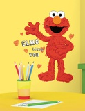 Sesame Street - Elmo Loves You Peel & Stick Giant Wall Decals
