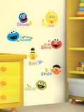 Sesame Street - Scribble Peel & Stick Wall Decals
