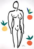 Nude with Oranges