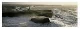 Phare des Poulains lors d'une tempete Reproduction d'art par Jean Guichard