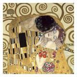Le baiser (détail) Reproduction d'art par Gustav Klimt