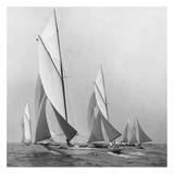 Sailboats Sailing Downwind  1920