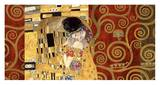 The Kiss (gold montage) Reproduction d'art par Gustav Klimt