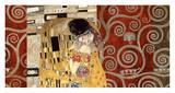 The Kiss (pewter montage) Reproduction d'art par Gustav Klimt