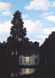 L'empire des lumières Reproduction d'art par Rene Magritte