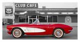 1961 Chevrolet Corvette at Club Cafe on Route 66
