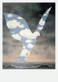 La Grande Famille Reproduction d'art par Rene Magritte