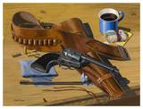 Gun & Holster on Table
