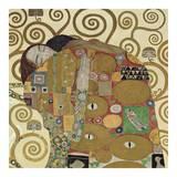 The Embrace (detail) Reproduction d'art par Gustav Klimt