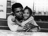Muhammad Ali   with His Daughter Maryum  1974