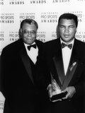Muhammad Ali with Actor James Earl Jones at the Jim Thorpe Pro Sports Awards  July 6  1992