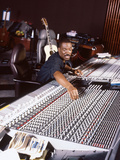 Comedian and Actor Eddie Murphy Listens to the Playback of One of His Tunes  April 1994