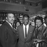 Nat King Cole Is Flanked by Boxing Great Joe Louis and His Wife Rose Morgan