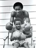 Sugar Ray Leonard and Six-Year-Old Son  Ray Jr