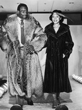 Walter and Connie Payton Model Furs in a Fashion Show Benefiting Better Boys Foundations   1979