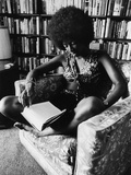 Singer Natalie Cole Relaxing with a Book  1973