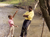 Walter Payton and Son Jarrett  1986
