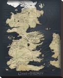 Game of Thrones Map Tableau sur toile