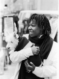 Comedian Whoopi Goldberg with Her Scottish Terrier Otis)
