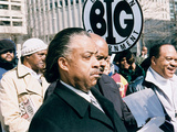 Rev Al Sharpton  &quot;Freedom Ride &#39;02&quot; March  2002