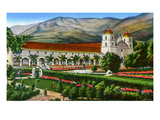 California: Santa Barbara Mission and Grounds