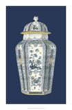 Asian Urn in Blue & White I