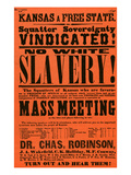'No White Slavery!' Poster from Kansas