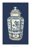 Asian Urn in Blue & White II