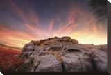 Rock Wall Sunset