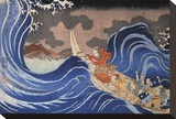 Nichiren Calms a Storm in Kakuda