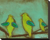Key Lime Finches II