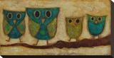Turquoise Owl Family II