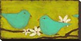 Turquoise Birds with Nest I
