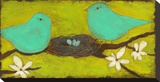 Turquoise Birds with Nest II