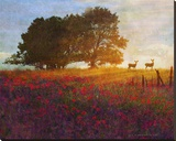 Trees  Poppies and Deer III