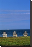 Chairs by the Ocean I
