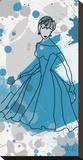 Women in Blue Dress
