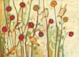 Five Little Birds Playing Amongst the Poppies Reproduction d'art par Jennifer Lommers