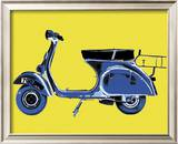 Vespa on Yellow