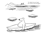 """It's Oglub's boat all right  but it doesn't look like Oglub"" - New Yorker Cartoon"