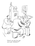 &quot;Don&#39;t you just love my skyscraper furniture&quot; - New Yorker Cartoon