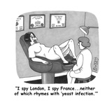 """""""I spy London  I spy Franceneither of which rhymes with 'yeast infectio - Cartoon"""