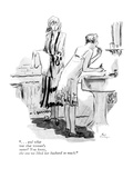 """""""   and what was that woman's name You know  the one we liked her husb…"""" - New Yorker Cartoon"""