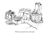 """""""Tell me you kept the box and receipt"""" - New Yorker Cartoon"""