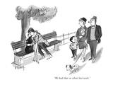 """""""We had that in school last week"""" - New Yorker Cartoon"""