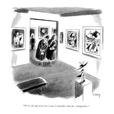 """""""We've already done this room I remember that fire extinguisher"""" - New Yorker Cartoon"""