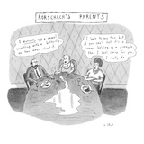Rorschach's Parents Dad: 'I distinctly see a camel wrestling with a butter… - New Yorker Cartoon