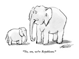 """Yes  son  we're Republicans"" - New Yorker Cartoon"