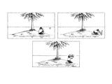 Man stranded on desert island finds bottle floating in ocean Finds a mode… - New Yorker Cartoon
