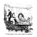 """I think going to law school helped my painting"" - New Yorker Cartoon"